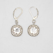 Lia Sophia Jewelry Bella Donna Faceted Cut Crystals Hoop Drop Silver Earrings