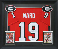 Georgia Hines Ward Authentic Signed Red Framed Jersey Autographed BAS Witnessed