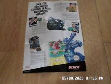 Nintendo NES (1991) Ultra Games Promo Poster / Insert