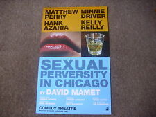 SEXUAL PERVERSITY in CHICAGO  Driver & Perry  COMEDY Theatre Original Poster
