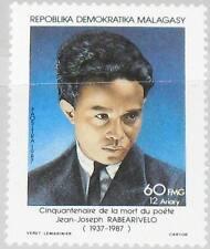 Madagascar MALAGASY 1987 1077 806 Jean Joseph rabearivelo poète poète art MNH