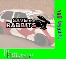 Save the Rabbits JDM Sticker Aufkleber oem Hater Shocker Fun