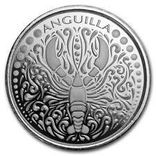 2018 Eastern Caribbean 8 Series Anguilla Lobster 1 oz Silver Capsuled BU Coin