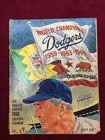1966 Los Angeles Dodgers Souvenir Yearbook x 3 Autographs  (A3)
