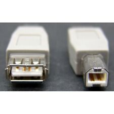 USB2.0 gender changer adapter / cable coupler, type-A female to type-B male