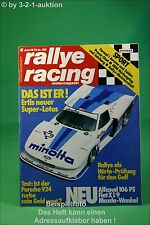 Rallye Racing 6/79 Fiat X 1/9 Porsche 924 Turbo Lotus + Poster