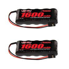 Venom 6V 1600mAh 5-Cell Flat Receiver NiMH Battery x2 Packs