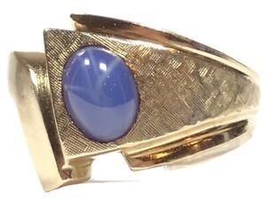 Vintage Men's 10K Yellow Gold Star Sapphire Ring - Size 10.25 - RSCO