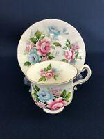 PARAGON fine bone china demitasse cup & saucer FLOWER FESTIVAL Englind