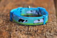 Collie Dog & Sheep ribbon dog collar for med to x-large sized dogs only