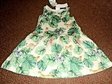 NEW girls h+m jungle animal summer dress 6 - 7 - 8 YEARS - bnwt