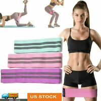3PCS Women Resistance Bands Booty Fabric Glutes Hip Circle Legs Exercise Yoga