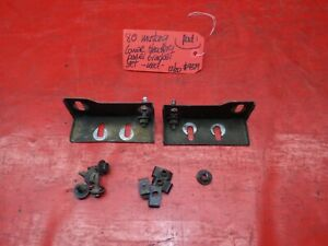 79-81 FORD MUSTANG FRONT BUMPER LOWER HEADER PANEL METAL MOUNTING BRACKET SET