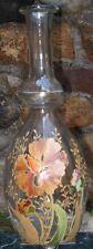 -Carafe en verre émaillé d'époque Art Nouveau