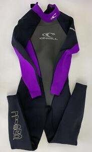 Womens O'NEIL Wetsuit size 8 style number 0239 Purple Black EUC