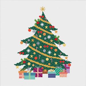 Christmas Tree Cross Stitch Pattern by Meloca Designs