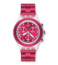 Swatch + irony diaphane Chrono + svck 4050ag Full Blooded Raspberry + nuevo/new