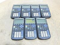 LOT of 7 Texas Instruments TI-83 Plus Graphing Calculators For PARTS/REPAIRS