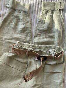 Pantalones De Mujer Zara De Lino Compra Online En Ebay