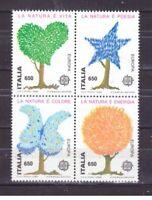 FRANCOBOLLI Italia Repubblica 1986 Blocco Europa CEPT Natura MNH** (ros5872)