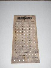 Dark Tower Board Game Replacement Score Chart Piece Original 1981