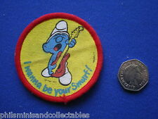 I Wanna be your Smurf   Cloth Badge/Patch     1980s