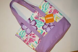 Gymboree Lilac Floral Tote Bag Purse NWT NEW Jump Into Summer