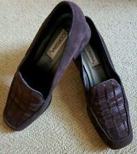 Women's Vintage Corsina Brown Suede Heeled Shoes Sz 9.5 M