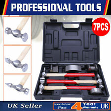 7Pc Car Body Repair Hammer & Dolly Kit Auto Panel Beating Dent Ding Auto Tools
