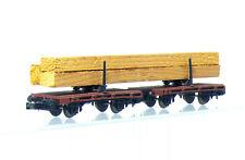 Lima 320483 N Gauge 2-teiliger Drehschemel-Langholzwagen