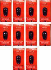 10 Pk W/Orignal Box Honeywell Ademco 5834-4 Four-Button Wireless Key Remotes