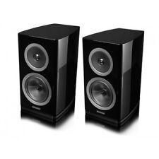 Wharfedale Reva 1 Speakers (Pair) Best Black Gloss Compact Bookshelf BiWire