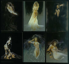 LUIS ROYO: PROHIBITED (Comic Images/2000) Complete METAL TEX Chase Card Set