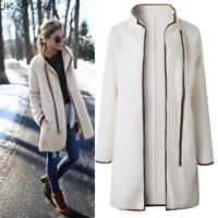Women Winter Coat Ladies Fluffy Fur Warm Boyfriend Cardigan Jacket Outwear Suit
