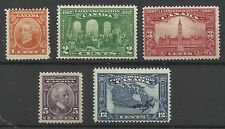 Canada 1927 Set of Canada Confederation Issues, Mounted Mint. [609]