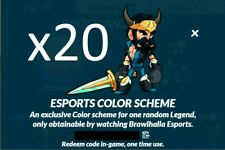 Brawlhalla 20 Esports Colors V1 Codes, 500+ Reviews, DELIVERY IN MINUTES!!!