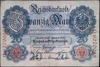 Germany banknote - 20 zwanzig mark - 1914 - State Loan currency - free shipping