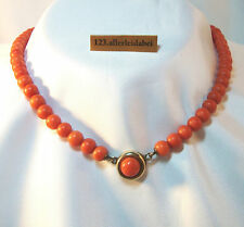 Rar Große alte Korallen Kette Collier Koralle Kette big coral necklace / AU 228