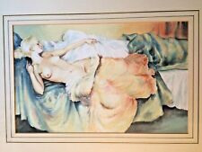 Reclining nude watercolour painting  in manner of Sir William Russell Flint