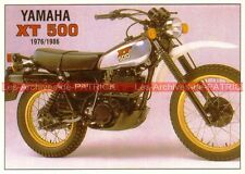 YAMAHA XT 500 ( 1976-1986 ) Carte Postale Moto Motorcycle Postcard