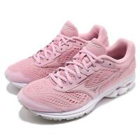 Mizuno Wave Rider 22 Pink White Womens Cushion Running Shoes J1GD1831-65