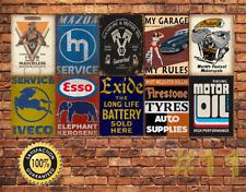 JOB LOT 10 X Métal Tin Signe Plaque Murale Style Vintage Garage Atelier #11