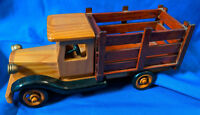 "Custom Wiseman International Wooden Model Truck HO 10"" Handmade VTG Staked Bed"