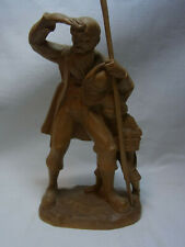 Vintage German Carved Wood Bearded Man with Boy #C