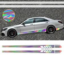 NEO Hologram Racing Pinstripe Stripe Side Door Skirt Vinyl Decal Sticker #5