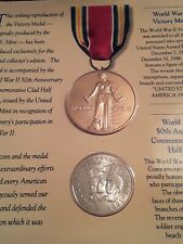 Ww2 50th Anniversary Commemorative Coin & Victory Medal Set