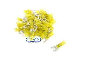 Xscorpion HSST14Y—12/10 Gauge Heatshrink Spade Terminal #14 Size in Yellow (50 P