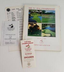 71st PGA Championship Souvenir Program 1989 at Kemper Lakes Golf Club & Ticket