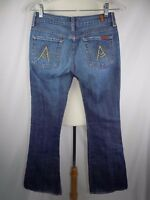 Seven 7 For All Mankind Women's Distress Jeans A Pocket Size 26 USA 28 x 32