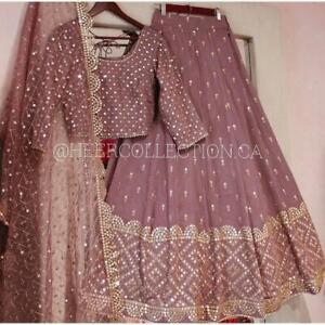 Lehenga Choli Indian Pakistani Bollywood Designer Wedding Wear Lehenga Dress NS